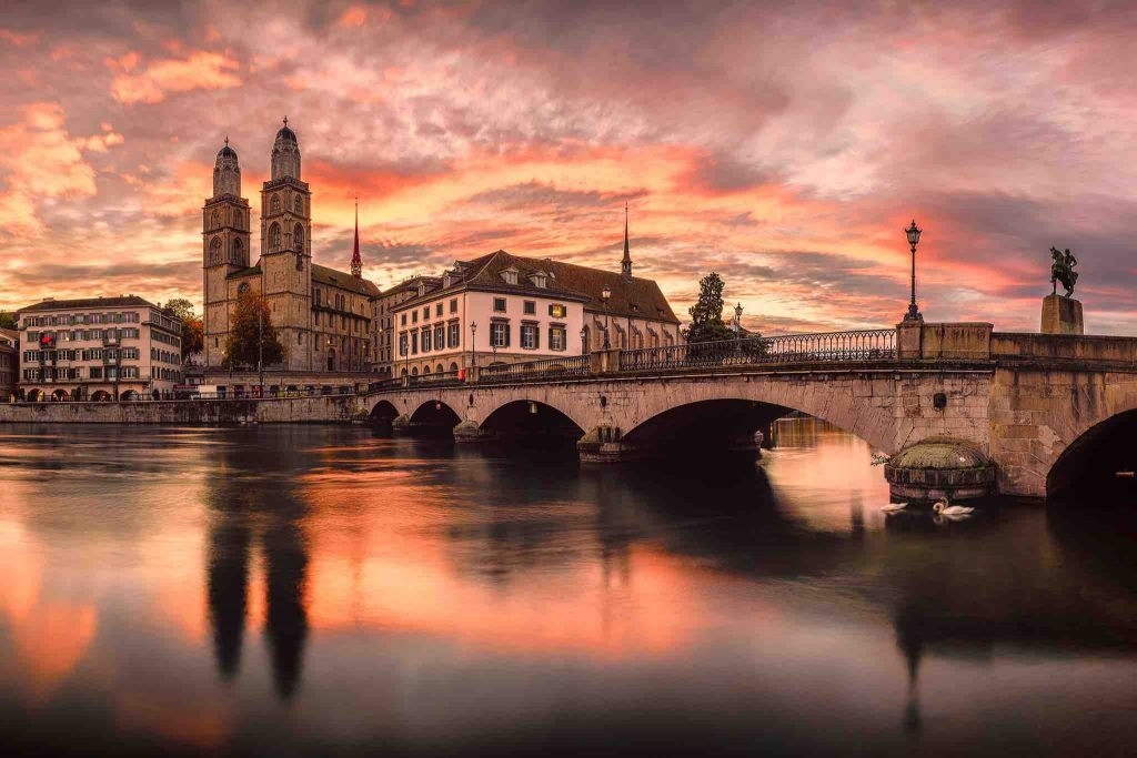 Zurich Sunset - Swiss School of Photography Photography Courses