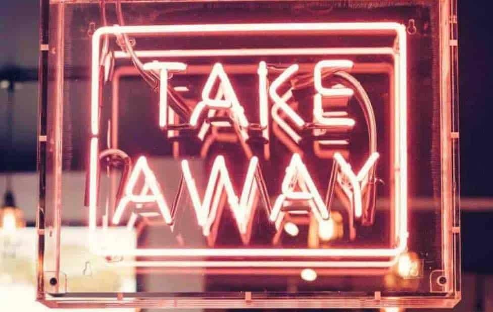 Takeaway advertising image