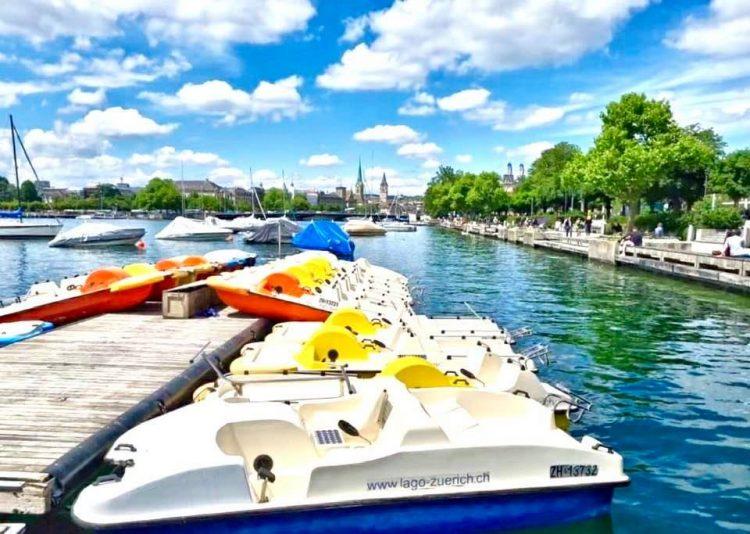 Pedalllo Boats on Lake Zurich