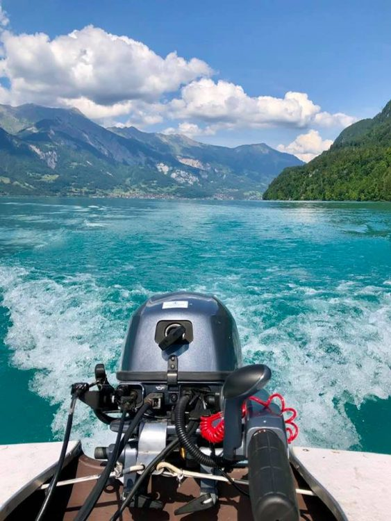 Boats hire Iseltwald Lake Brienz