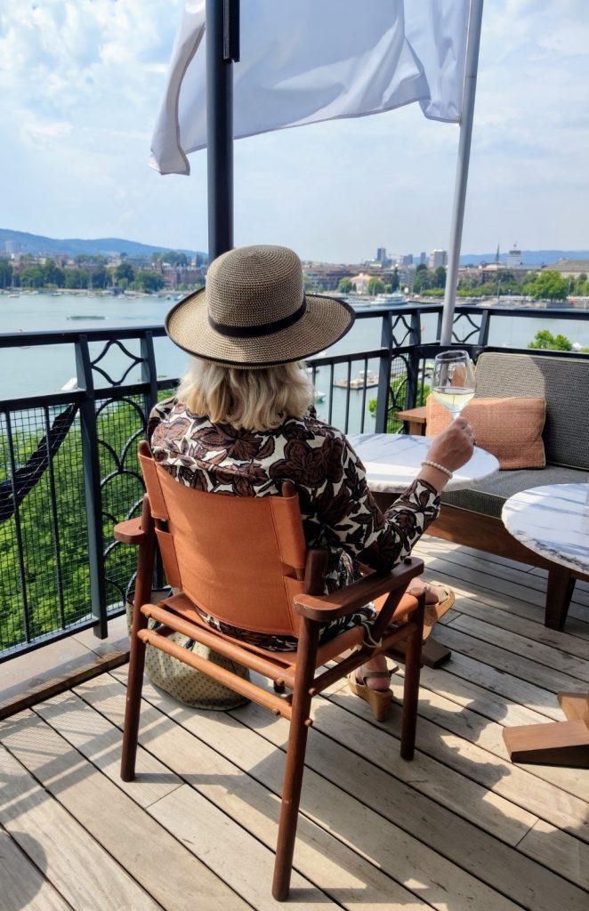 Lunch on the terrace at La Mūna Restaurant at La Réserve Eden Au Lac