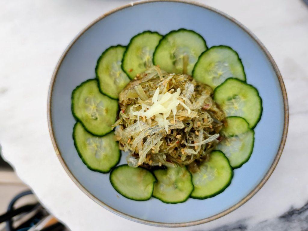 Seaweed salad La Mūna Restaurant at La Réserve Eden Au Lac