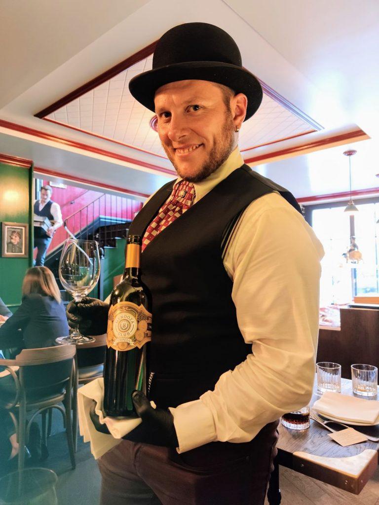 Wine served at Williams ButchersTable Restaurant Zurich