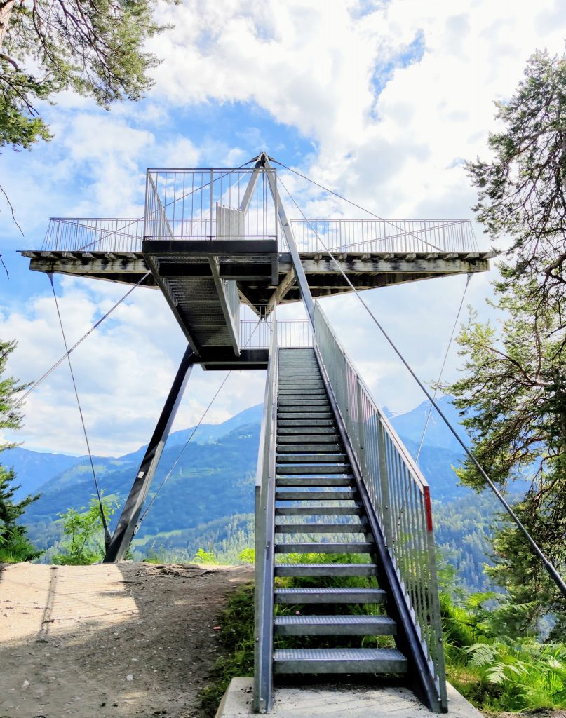 Il Spir viewing platform at Conn overlooking the Ruinaulta gorge Flims