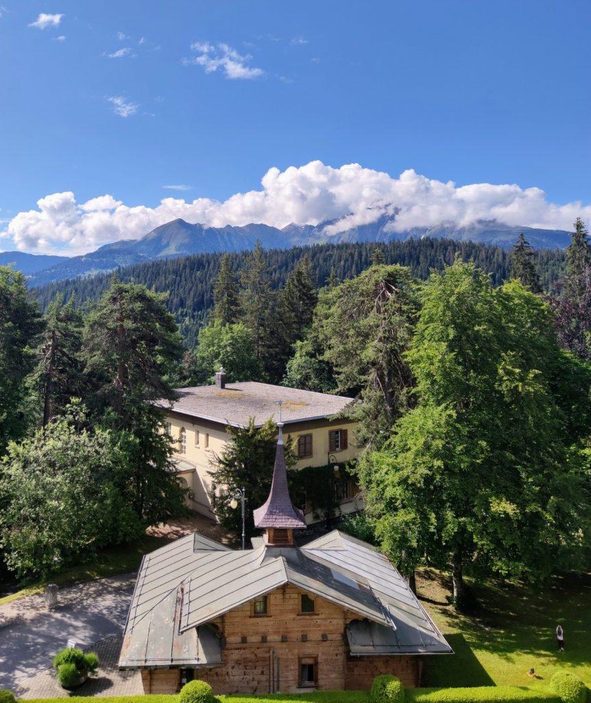 Bedroom view Waldhaus Flims wellness resort