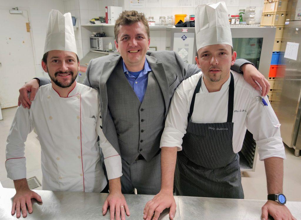 Chefs Patrick Hetz, Philip Lochmann at Waldhaus Flims Wellness Resort