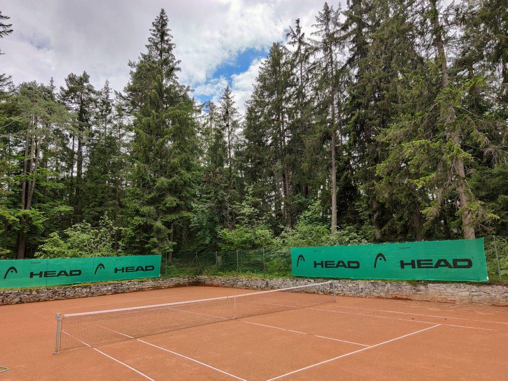 Tennis Courts at Waldhaus Flims Wellness Resort