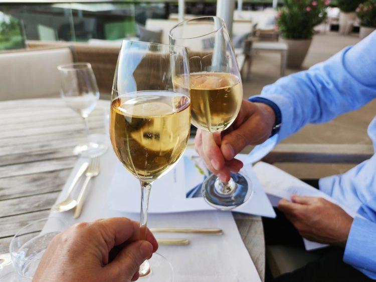 Champagne celebration at Dolder Grand zurich Restaurant Saltz