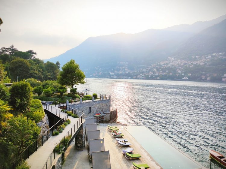 Bedroom views at Il Sereno Como
