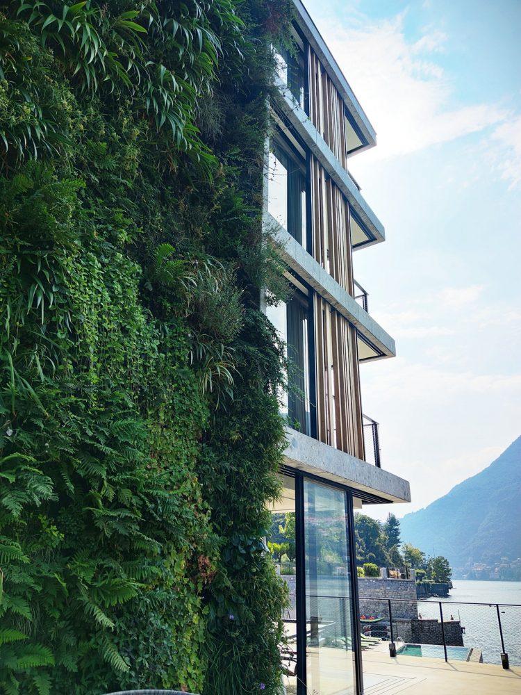 Hotel Il Sereno Como Vertical gardens by Patrick Blanc