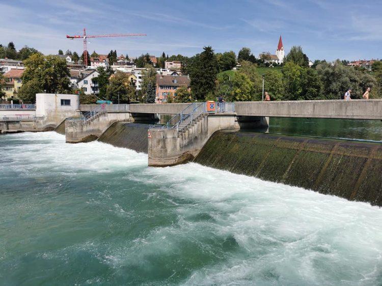 Weir along the Limmat Zurich
