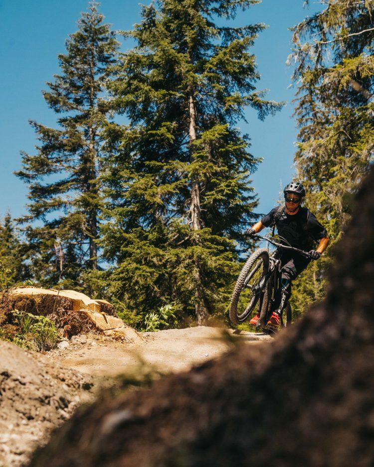Biking at Peaks Place Laax