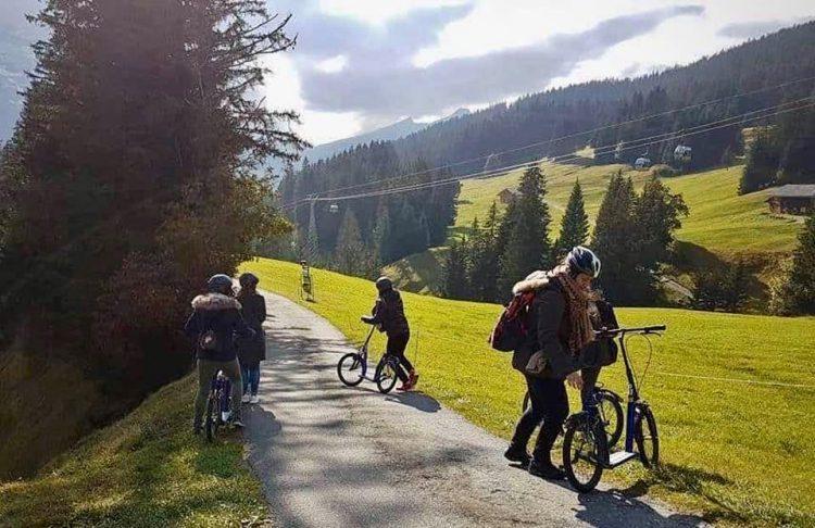 Trotti bikes at Grindelwald First Jungfrau region