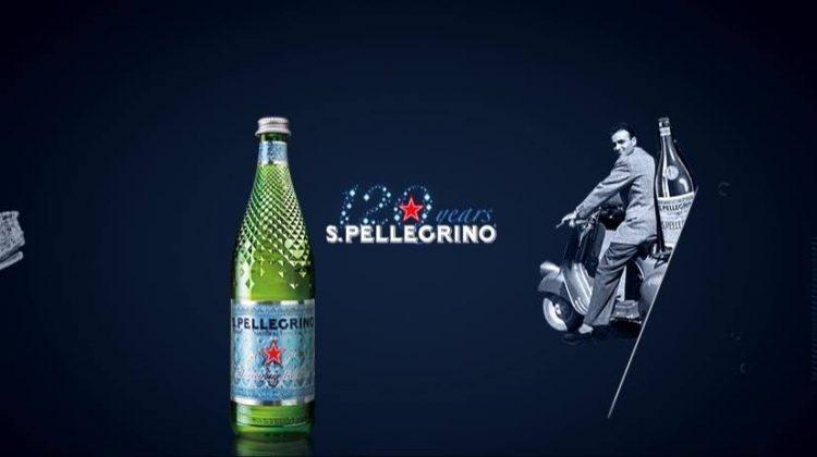 San Pellegrino 120 years diamond bottle