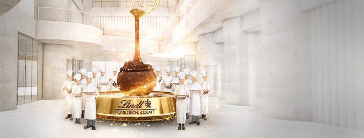 Giant Lindt Chocolate Fountain Kilchberg zurich