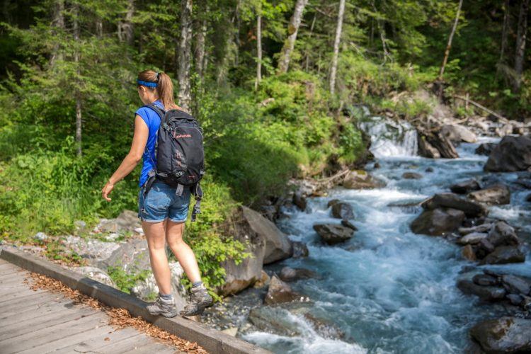 Hiking along the Avancon Gorge in Vaud