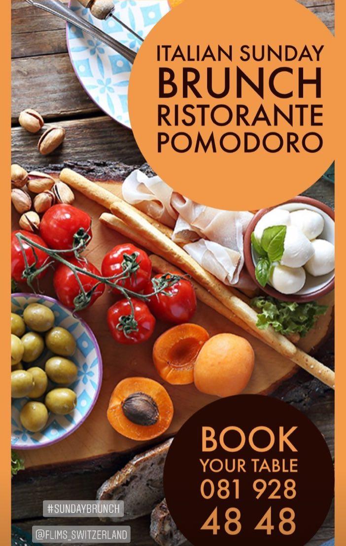 Brunch Italian Style at Ristorante Pomodoro at the Waldhaus Flims