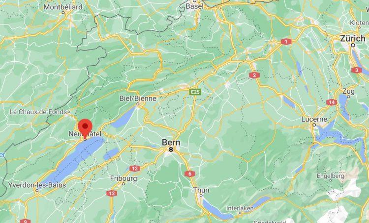 Neuchâtel on Google Maps
