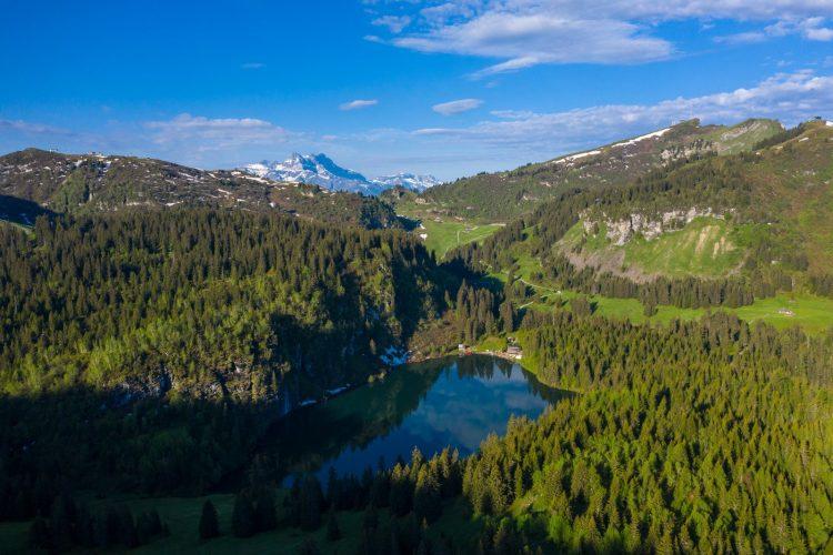 Hiking near Lac des Chavonnes