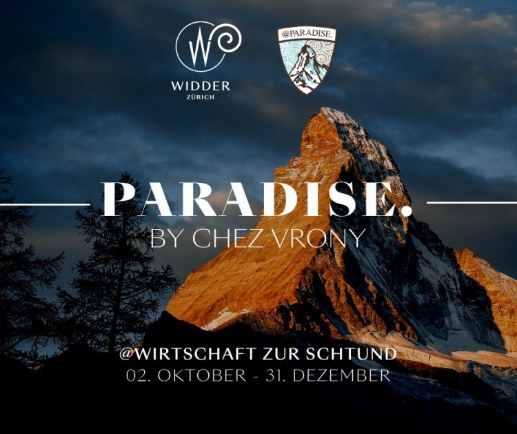 Paradise - Chez Vrony Pop Up at Wirtschaft zur Schtund