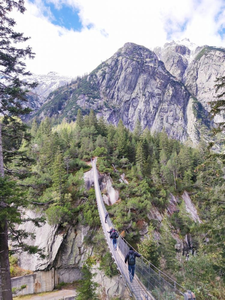 The Handeck Suspension Bridge, Bernese Oberland