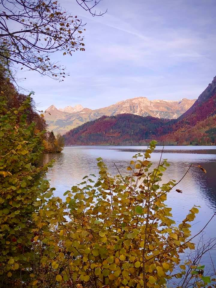 Beautiful Autumn Colours on the Klöntalersee Lake