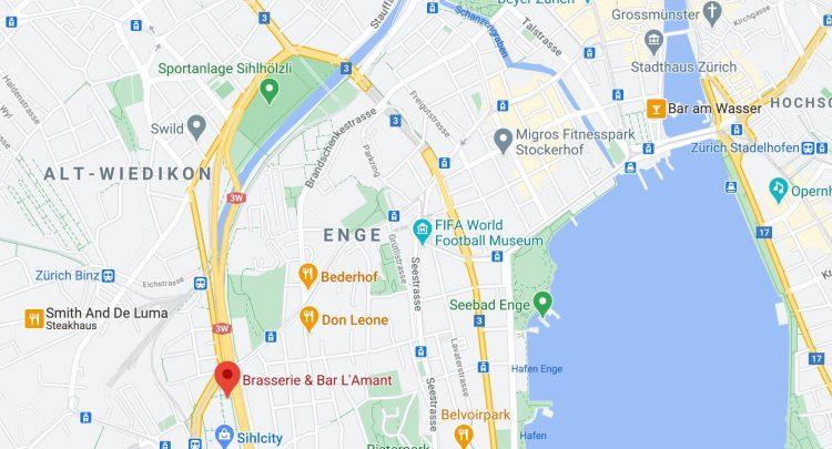 google Maps L'amant brasserie Sihlcity