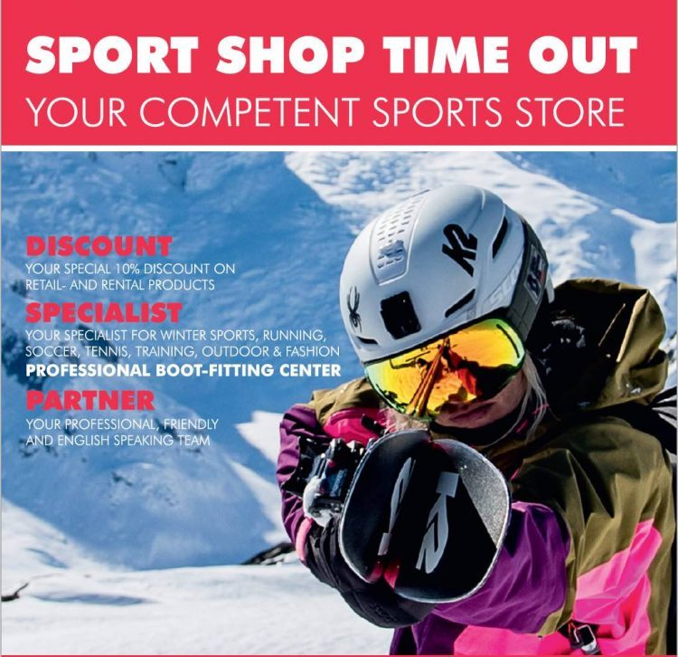 Time To Get Kitted Out For Skiing at Sport Shop Time Out