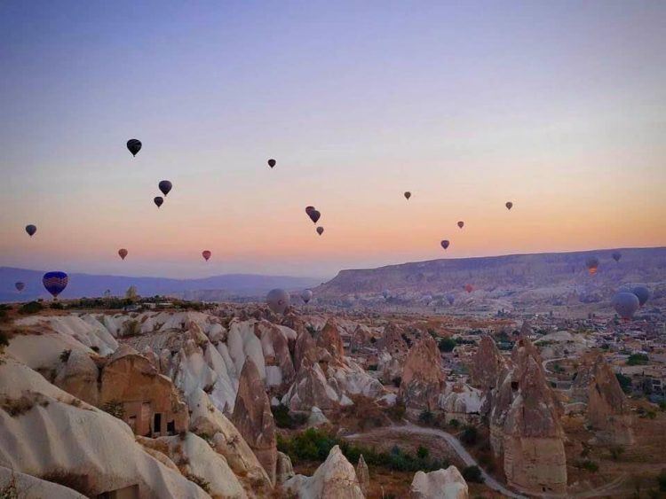 Hot air balloons in Cappadocia Turkey