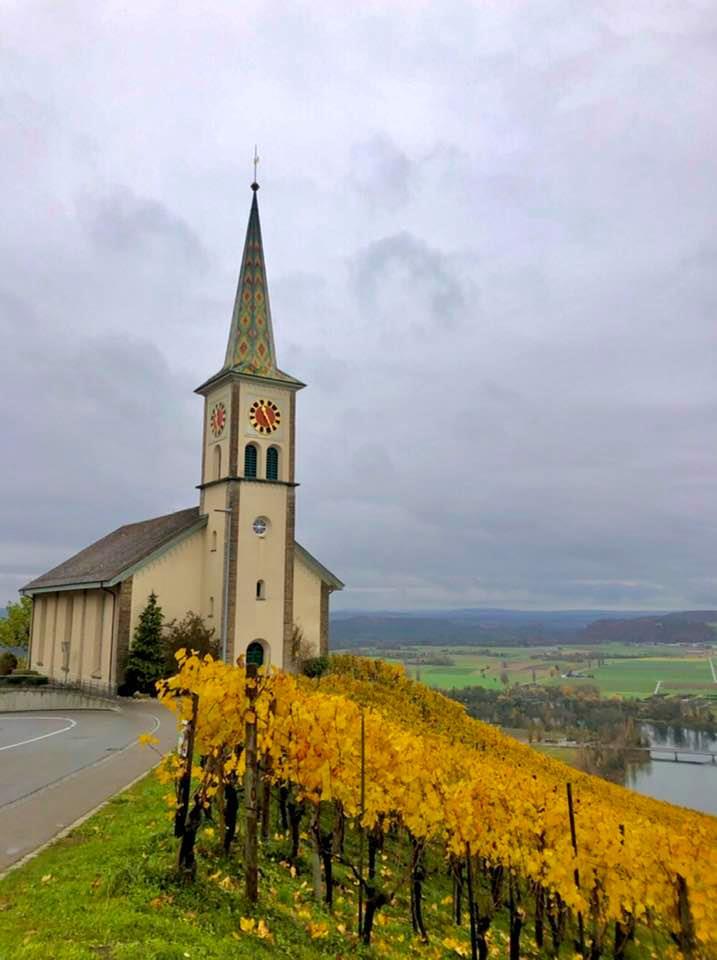 Buchberg church on A Circular Hike Around Eglisau in Autumn