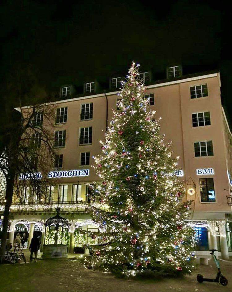 Christmas tree hotel Störchen Zurich