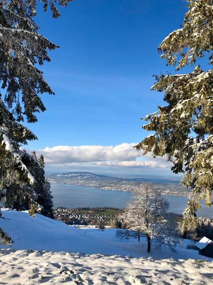 A Scenic Winter Hike To Etzel Kulm in Schwyz