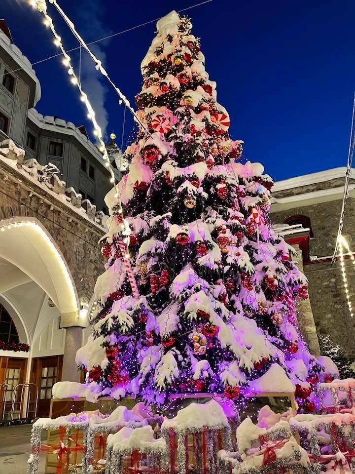 Christmas Tree Badrutts Palace St Moritz