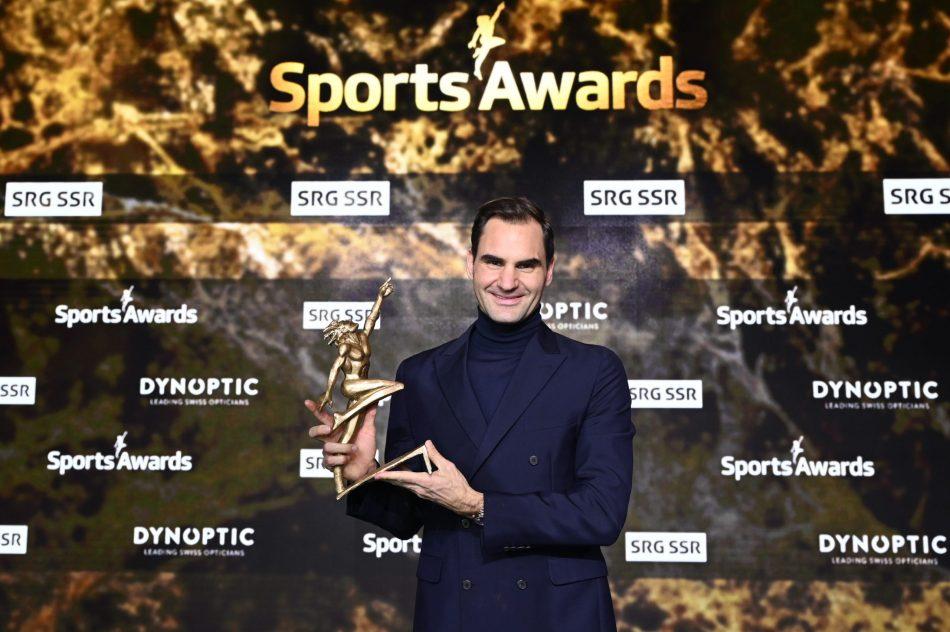 Roger Federer and Vreni Schneider Win at Swiss Sports Awards 2020
