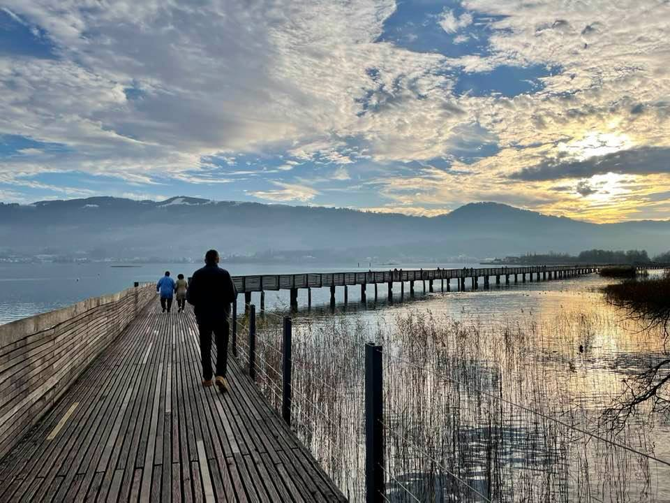 The Wooden Bridge From Rapperswil to Hurden