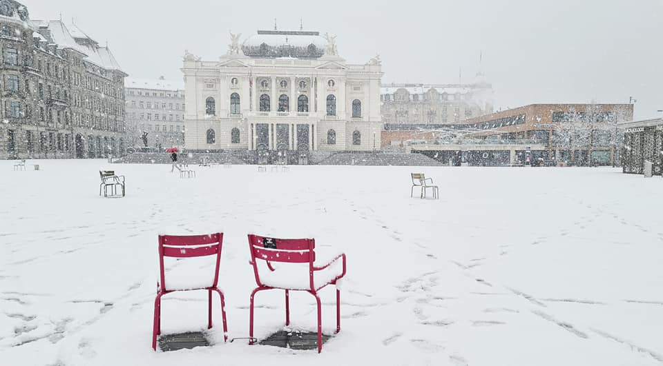 Photos of Zurich in The Snow January 2021