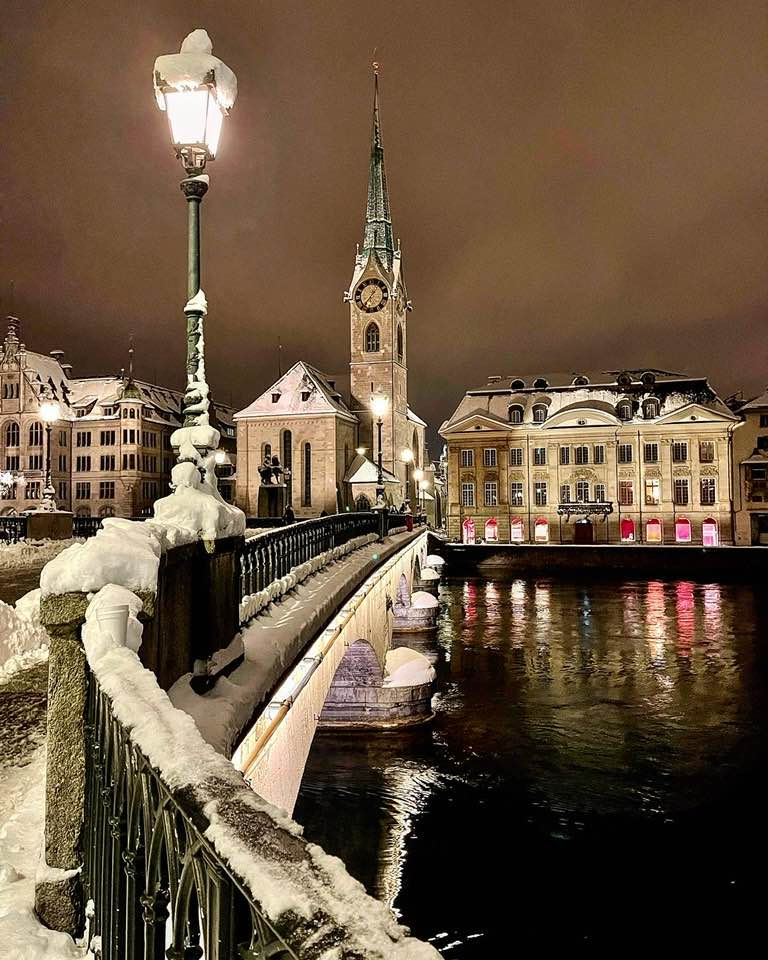 Photos of Zurich in The January Snow