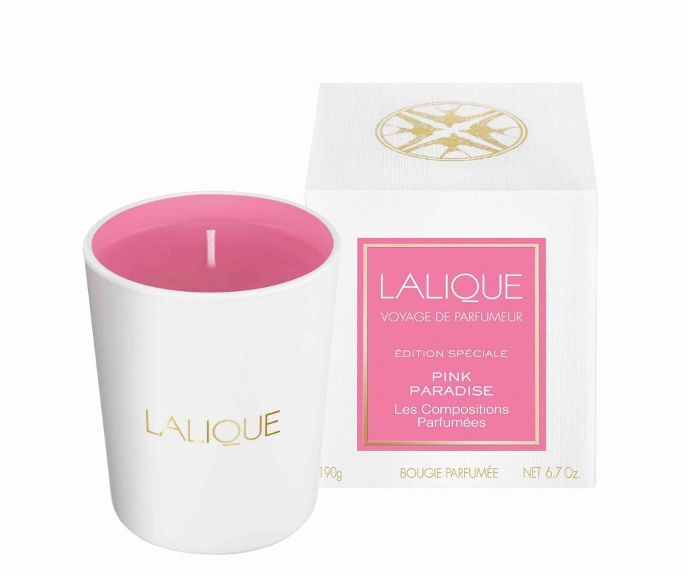 Pink Paradise Lalique scented candles - Compositions Parfumées