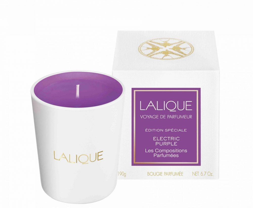 Electric purple Lalique scented candles - Compositions Parfumées