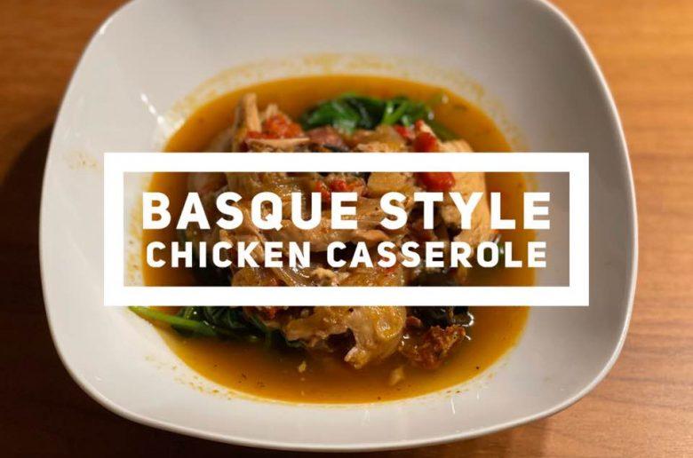 Recipe for Basque Style Chicken Casserole
