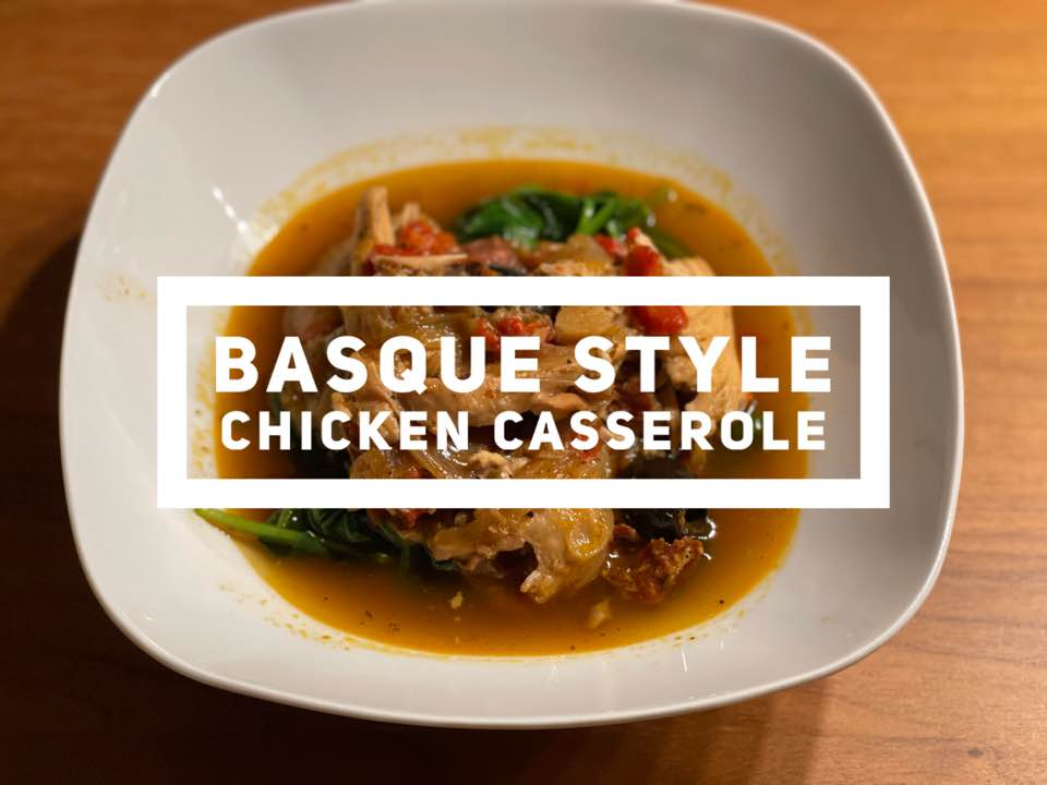 Recipe for Basque Style Chicken Casserole