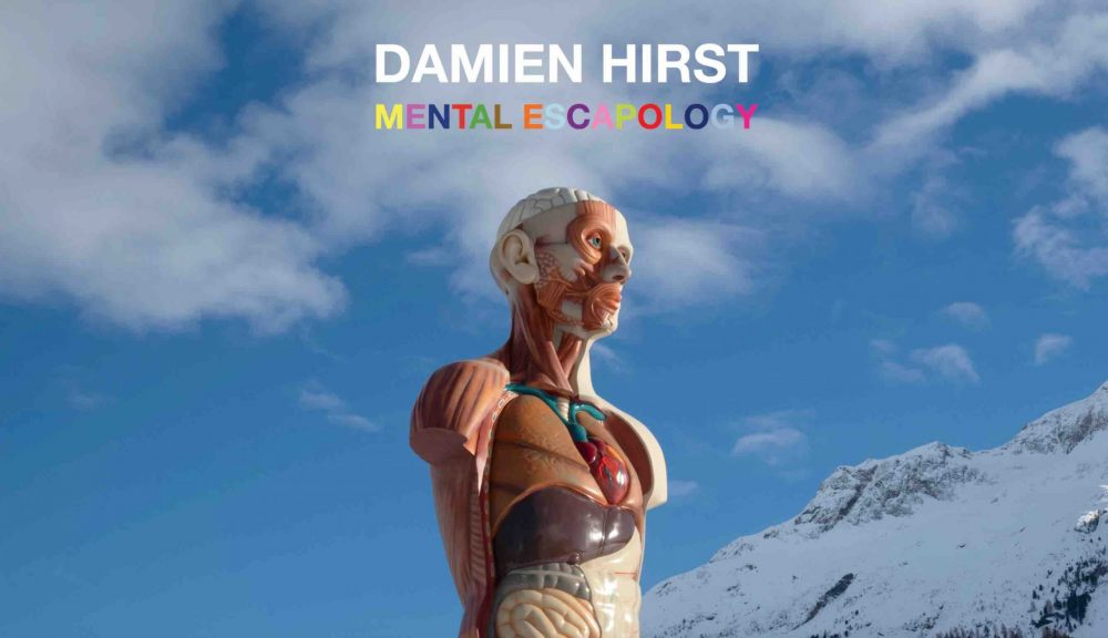 British Artist Damien Hirst Exhibits in St Moritz Switzerland