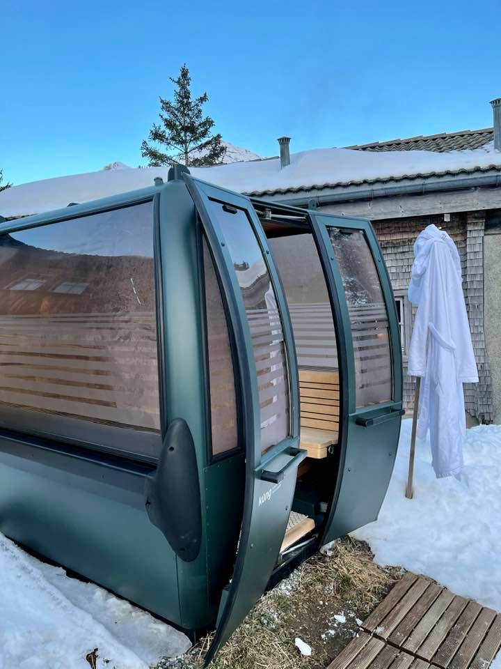 Gondola sauna at Hotel Guarda Val Lenzerheide