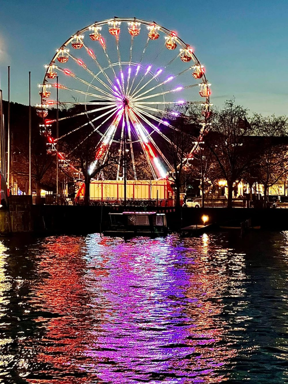 Have Fun On The Colourful Ferris Wheel In Zurich