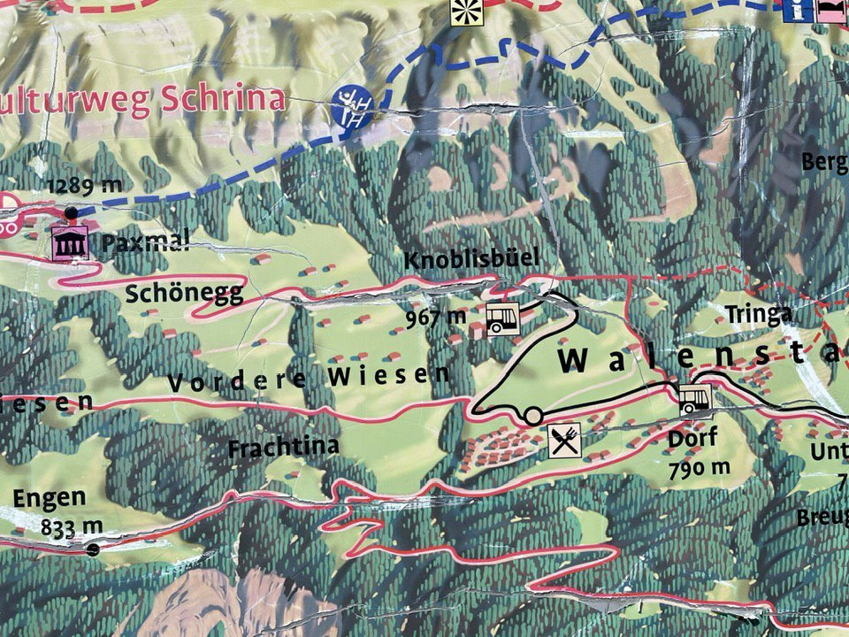 Map showing Paxmal