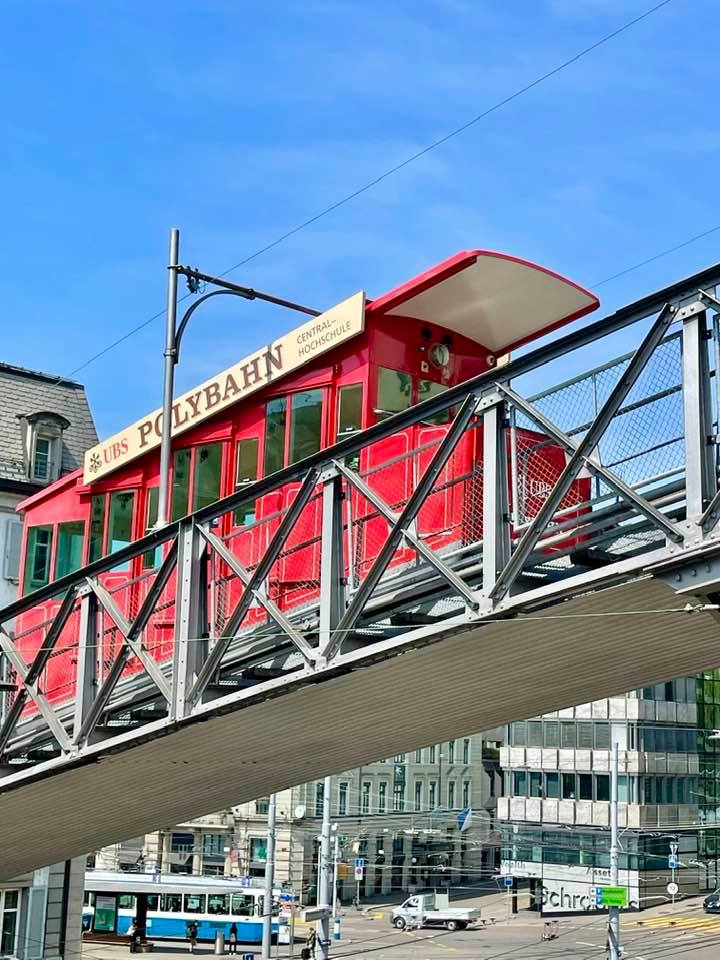 Take a Ride on the UBS Polybahn Funicular in Zurich