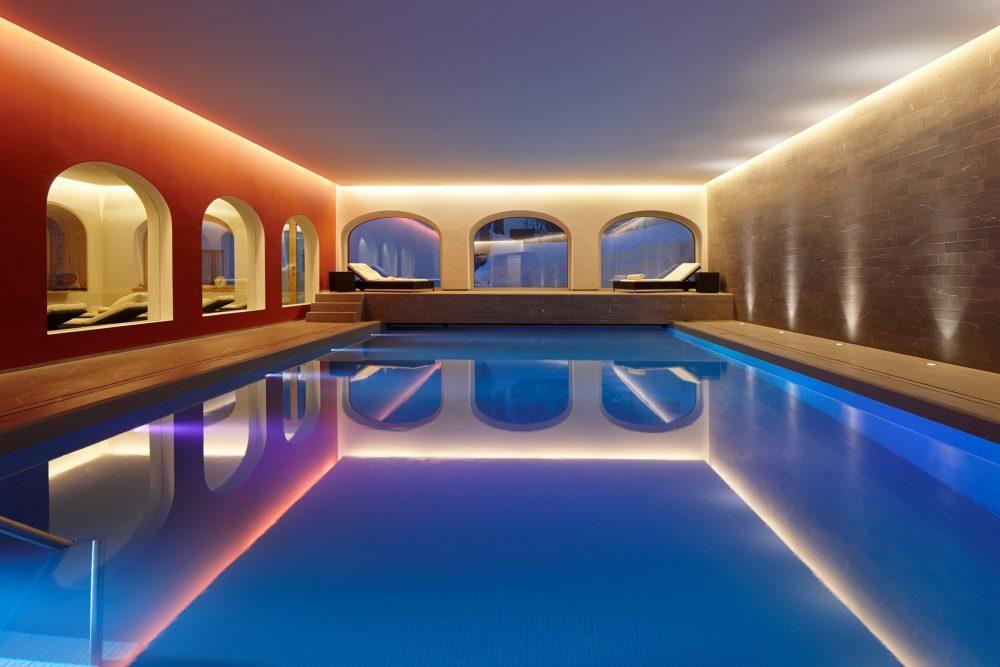 Swimming pool Hotel Steffani St Moritz