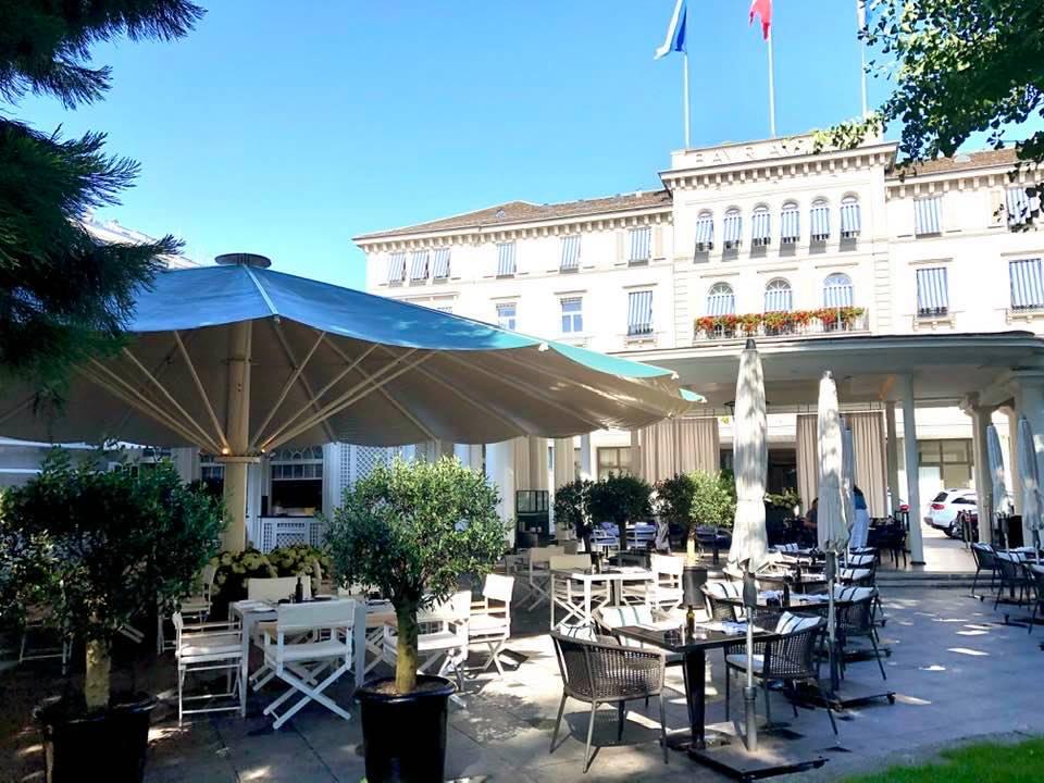 Garden restaurant at Baur Au Lac Garden, Zurich