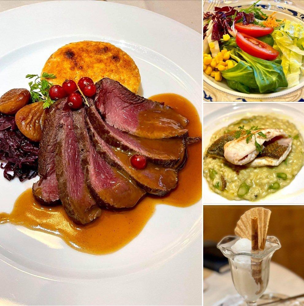 Dinner at Hotel Steffani in St Moritz