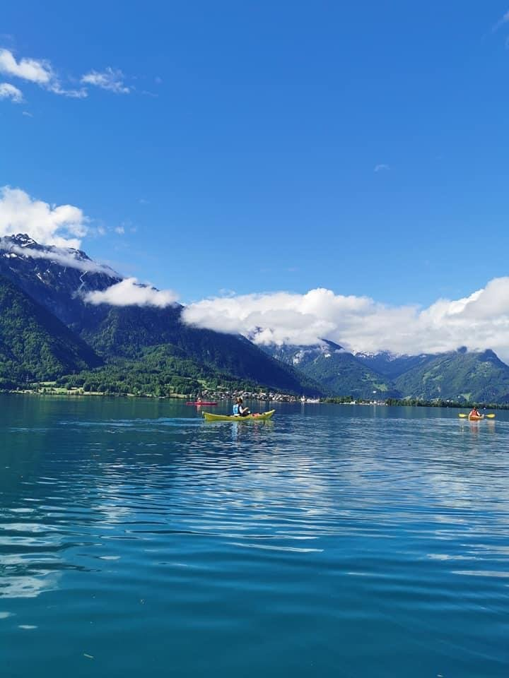 Great Kayaking Fun on Lake Brienz Switzerland